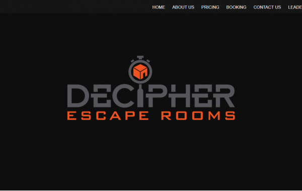 Decipher Escape Rooms Website